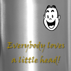 Little Head Male Mugs & Drinkware - Travel Mug