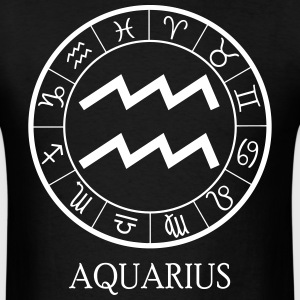 Aquarius astrological zodiac sign T-Shirts - Men's T-Shirt