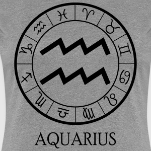 Aquarius astrological zodiac sign Women's T-Shirts - Women's Premium T-Shirt