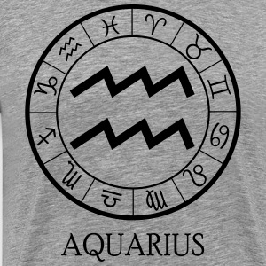 Aquarius astrological zodiac sign T-Shirts - Men's Premium T-Shirt