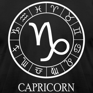 Capricorn astrological zodiac sign5 T-Shirts - Men's T-Shirt by American Apparel