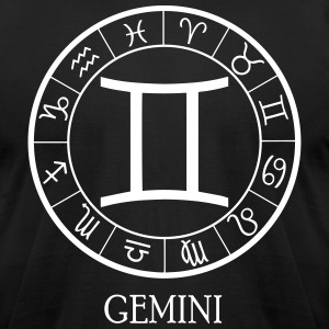 Gemini astrological zodiac sign T-Shirts - Men's T-Shirt by American Apparel