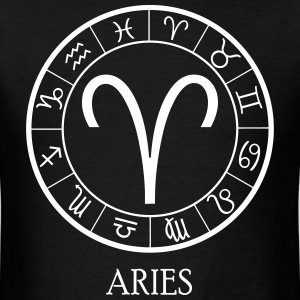 Aries astrological zodiac sign T-Shirts - Men's T-Shirt