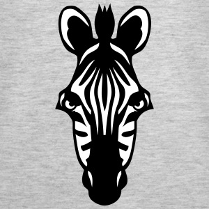 zebra wild animal 1102 Tanks - Women's Premium Tank Top