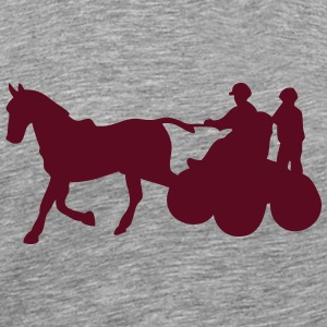 sport horse hitch 1 T-Shirts - Men's Premium T-Shirt