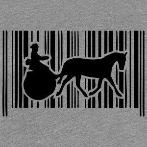barcode horse hitch tradition compet T-Shirts - Women's Premium T-Shirt