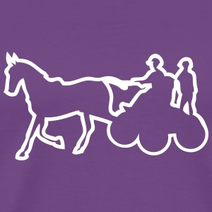 sport horse hitch competition 1 T-Shirts - Men's Premium T-Shirt