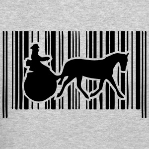 barcode horse hitch tradition compet Long Sleeve Shirts - Crewneck Sweatshirt