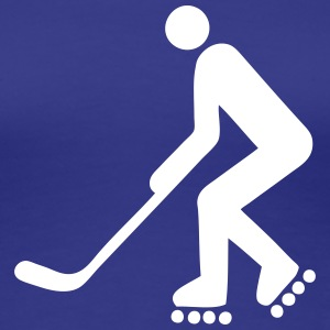 inline skating hockey figure logo T-Shirts - Women's Premium T-Shirt