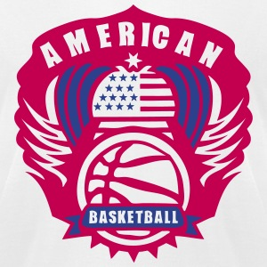 basketball wing logo flag usa state T-Shirts - Men's T-Shirt by American Apparel