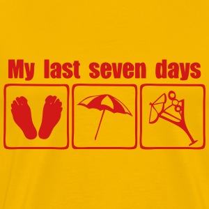 my last seven days cocktail sun T-Shirts - Men's Premium T-Shirt