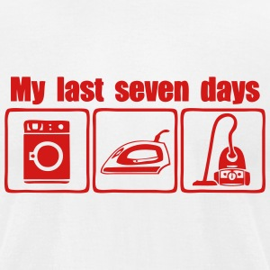 my last seven days dishwasher irons T-Shirts - Men's T-Shirt by American Apparel