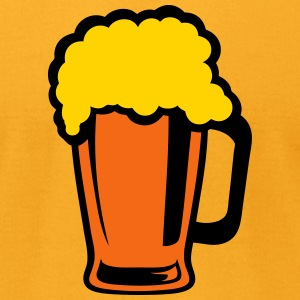 alcohol beer foam glass 1012 T-Shirts - Men's T-Shirt by American Apparel
