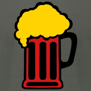 10122 beer foam glass alcohol T-Shirts - Men's T-Shirt by American Apparel