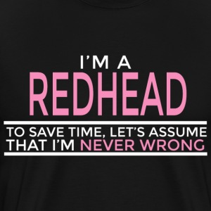 NEVER WRONG REDHEAD T-Shirts - Men's Premium T-Shirt