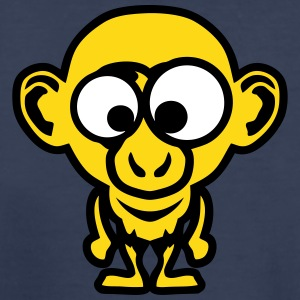 monkey face funny animal cartoon in 1010 Kids' Shirts - Kids' Premium T-Shirt