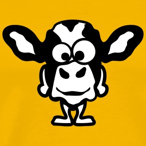 animal cow funny cartoon face 1010 T-Shirts - Men's Premium T-Shirt