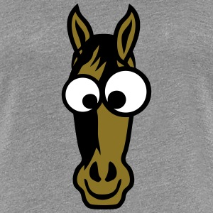horse animals funny face 2 1010 T-Shirts - Women's Premium T-Shirt