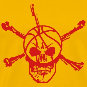 basketball skull 12 deadhead knife T-Shirts - Men's Premium T-Shirt