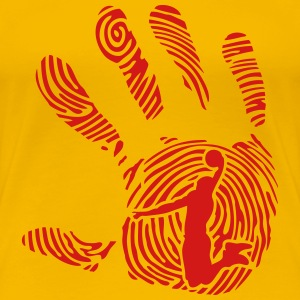 basketball fingerprint hand 1010 T-Shirts - Women's Premium T-Shirt