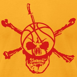 basketball skull 12 deadhead knife T-Shirts - Men's T-Shirt by American Apparel