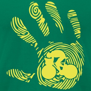 velo cycling fingerprint hand 1010 T-Shirts - Men's T-Shirt by American Apparel