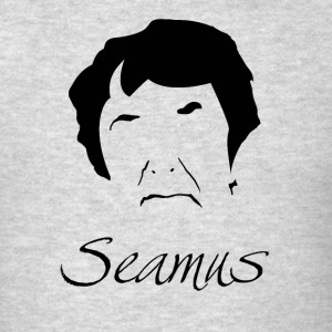 Seamus Heaney Silhoutte Hirsute - Men's T-Shirt