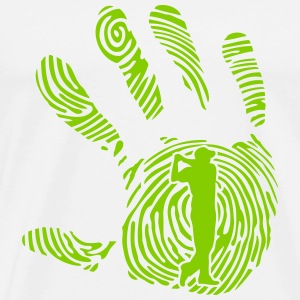golf fingerprint hand 1010 T-Shirts - Men's Premium T-Shirt