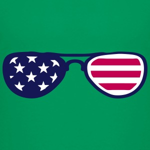 sunglasses us flag 18 Kids' Shirts - Kids' Premium T-Shirt