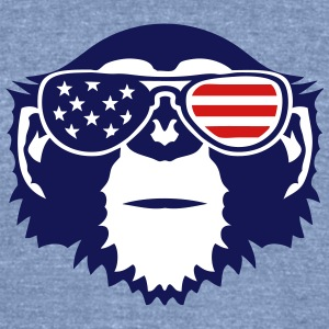 monkey bezel color american flag sun T-Shirts - Unisex Tri-Blend T-Shirt by American Apparel
