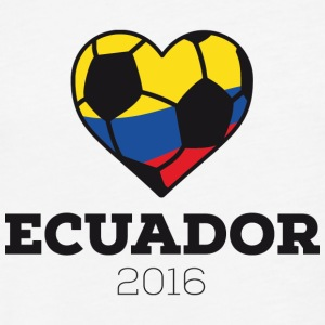 Ecuador Fußball 2016 T-Shirts - Fitted Cotton/Poly T-Shirt by Next Level