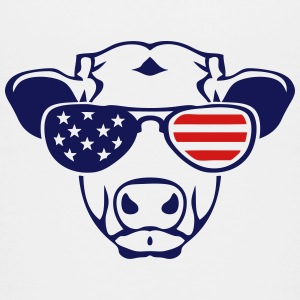 american flag cow colored sun glasses Kids' Shirts - Kids' Premium T-Shirt