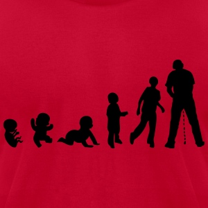 evolution piss standing human urine stoc T-Shirts - Men's T-Shirt by American Apparel