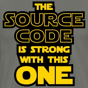 THE SOURCE CODE IS STRONG WITH THIS ONE T-Shirts - Men's Premium T-Shirt
