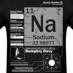 Sodium Na 11 Element t shirt - Men's T-Shirt