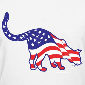 Patriotic Kitty Cat - Women's T-Shirt
