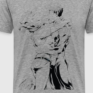Male and female kissing art T-Shirts - Men's Premium T-Shirt