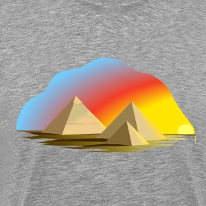 Egypt pyramid abstract art T-Shirts - Men's Premium T-Shirt