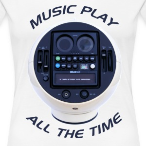 Music Play All the Time - Women's Premium T-Shirt
