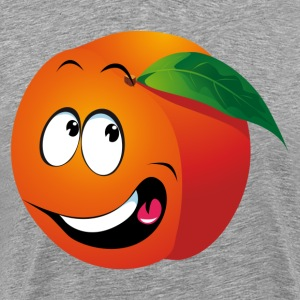 Cartoon apricot fruit smiling T-Shirts - Men's Premium T-Shirt