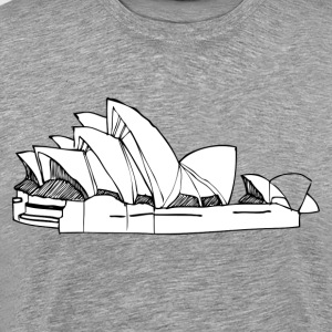 World famous opera house landmark T-Shirts - Men's Premium T-Shirt