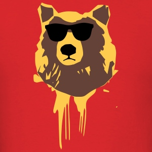 Hipster Bear Red - Men's T-Shirt