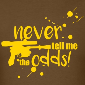 Never Tell Me the Odds Brown - Men's T-Shirt