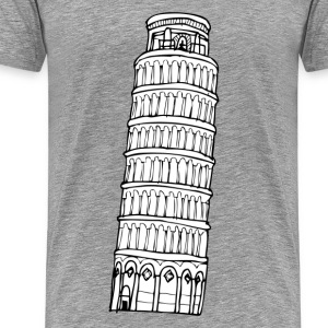 World Leaning tower of Pisa landmark T-Shirts - Men's Premium T-Shirt