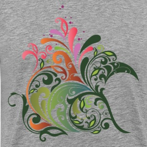 Abstract design floral ornament background graphic T-Shirts - Men's Premium T-Shirt