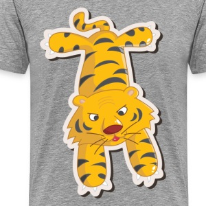 Amusing cartoon tiger design T-Shirts - Men's Premium T-Shirt