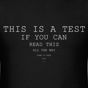 This is a test T-Shirts - Men's T-Shirt