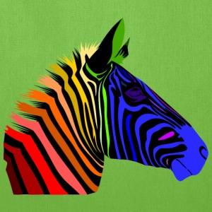 Zebra; Punk Zebra; Rainbow Zebra Bags & backpacks - Tote Bag