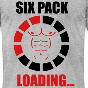 SIX PACK LOADING T-Shirts - Men's T-Shirt by American Apparel