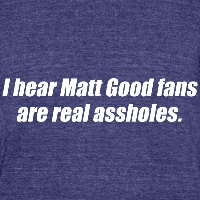 Matt Good Fans (Indigo)